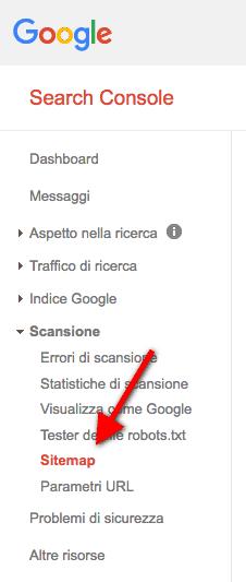 sitemap indicizzazione