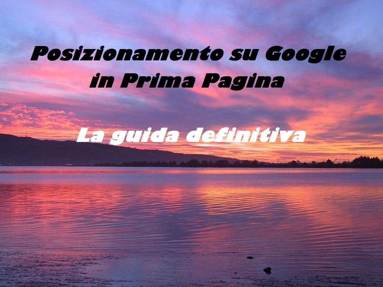 Posizionamento su Google in Prima Pagina