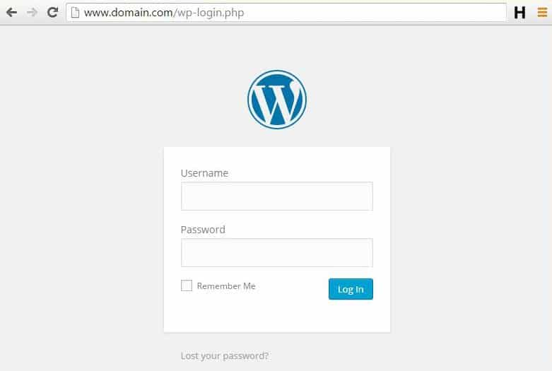 login wordpress 1