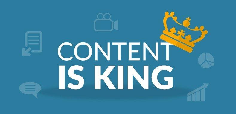"""Fornisci contenuti di alta qualità sulle tue pagine per fornire ai visitatori le informazioni che stanno cercando. """"Content is king"""""""