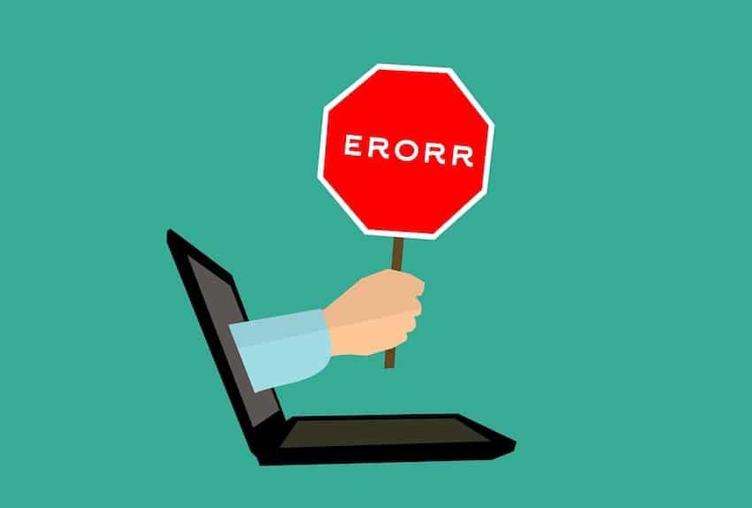 ecommerce web agency errori